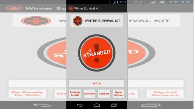 "For those with an Android phone, the app may be life-saving. It's called ""Winter Survival Kit"" and can be found in the Google Play Store. (KCTV5)"