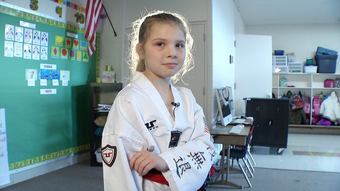 Alex Kramer started practicing taekwondo for self-defense, but since then, her practice has taken a big turn. (KCTV5)