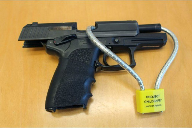 The office has already given out more than 500 gun locks. In the few seconds that it takes to open the lock, they hope people rethink what they're doing. (KCTV5)