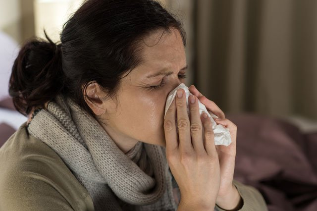 Jackson County health officials say the flu is 'running rampant.' (Graphicstock)