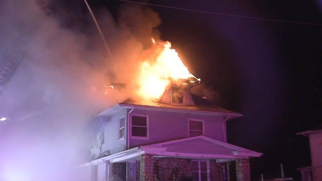 The fire was reported at about 12:51 a.m. at a home in the 4000 block of Chestnut Street. (KCTV5)
