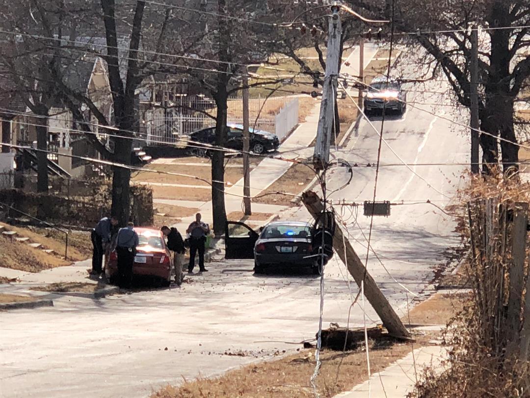 The scene in the area of 35th and Mersington. (Brett Hacker/KCTV)