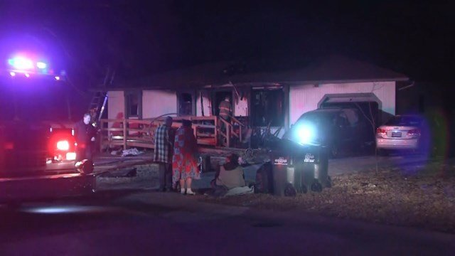 The fire started about 1:15 a.m. at a home in the 16600 block of East Third Terrace North. (KCTV5)