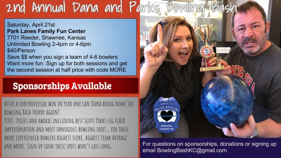 KMBZ's Dana and Parks will host the second annual Bowling Bash KC to benefit the Kansas City Police Officer's Memorial Foundation. 9Kansas City Police Officer's Memorial Foundation)