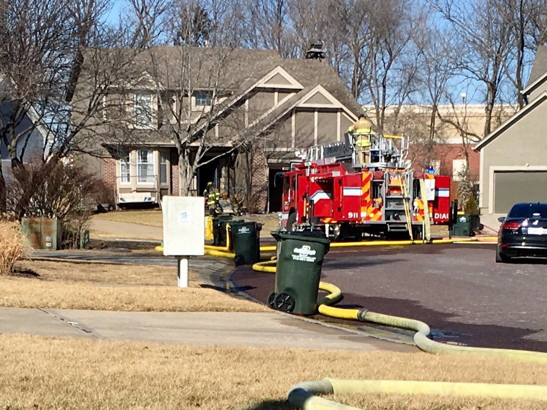 An Overland Park family has been temporarily displaced and staying with neighbors after a chimney fire inside their home. (Rob Rhodes/KCTV5 News)