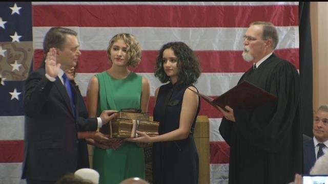 Republican Jeff Colyer has been sworn in as the new Kansas governor. (KCTV5)