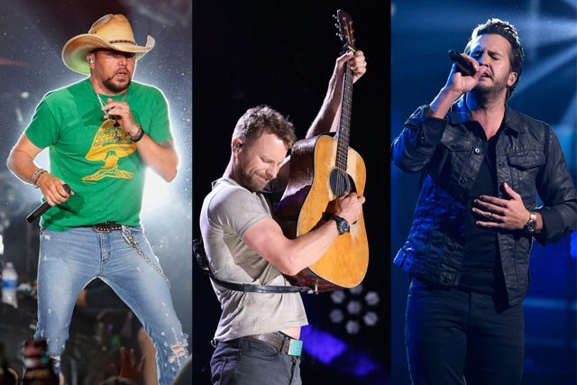 Country music stars Jason Aldean, Dierks Bentley and Luke Bryan will perform this summer at the Sprint Center. (AP)