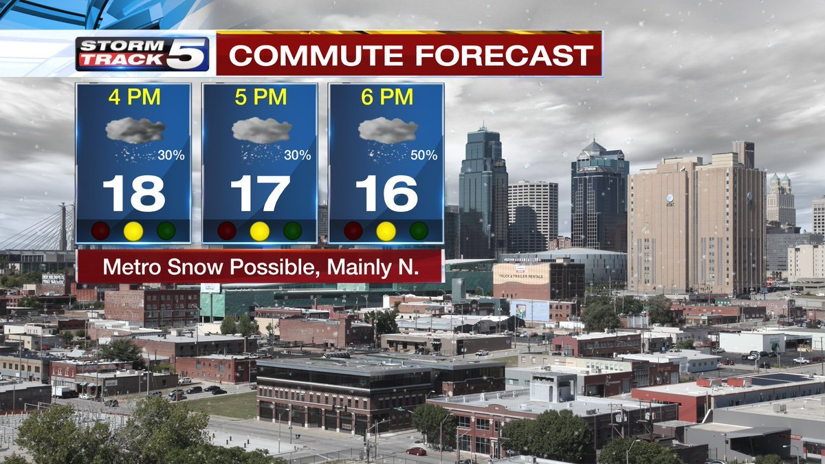 Snow showers are expected to spread into the Kansas City area throughout the afternoon and continue into the evening Tuesday. (KCTV5)
