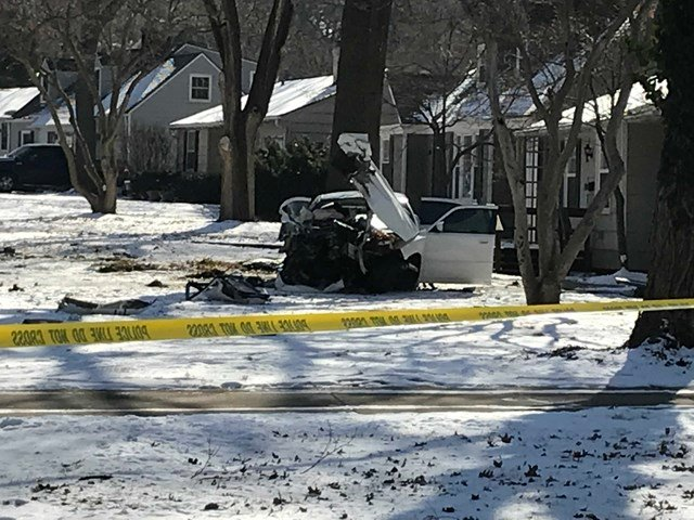 The crash happened at about 10:17 a.m. in the 7100 block of Cherokee Drive. (KCTV5)