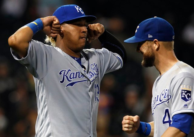 Even in 2017, a disappointing season for everyone involved, the Royals finished nine wins above their PECOTA projection. (AP)