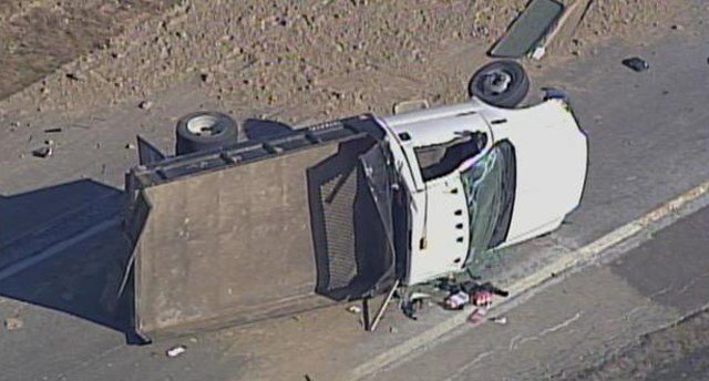 Emergency personnelsay the driver was ejected from the vehicle and taken to an area hospital. (KCTV5)