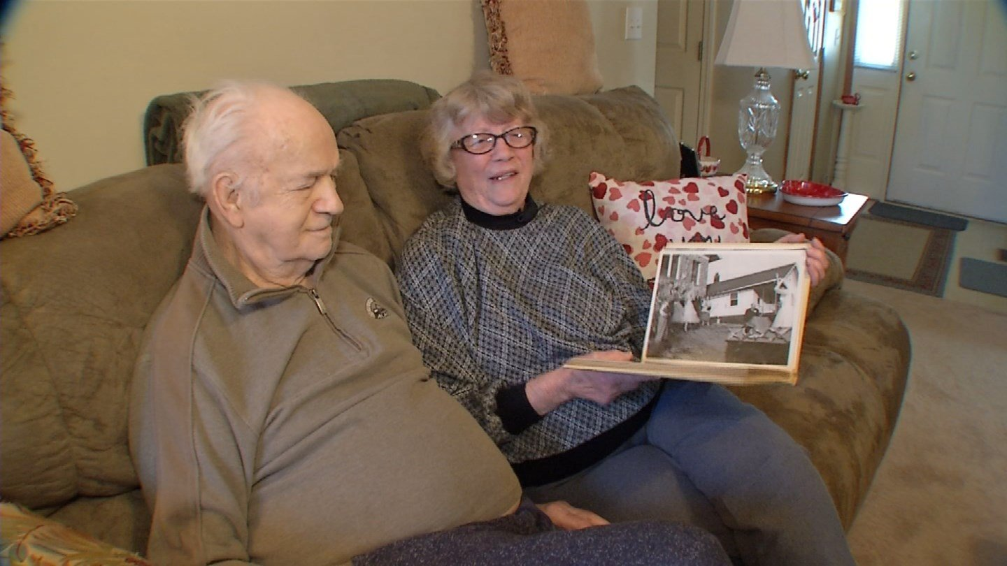 Jeanene and Kenneth Johnson met on a blind date, but she says they didn't exactly hit it off. They bumped into each other again at a Halloween party, and that's when sparks flew. (KCTV5)