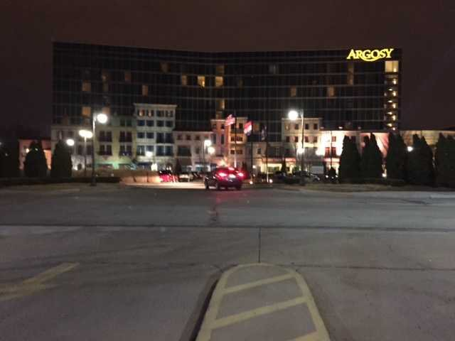The standoff started at about 5:30 p.m. when police receiveda report of a disturbance in the hotel portion of the building. (KCTV5)