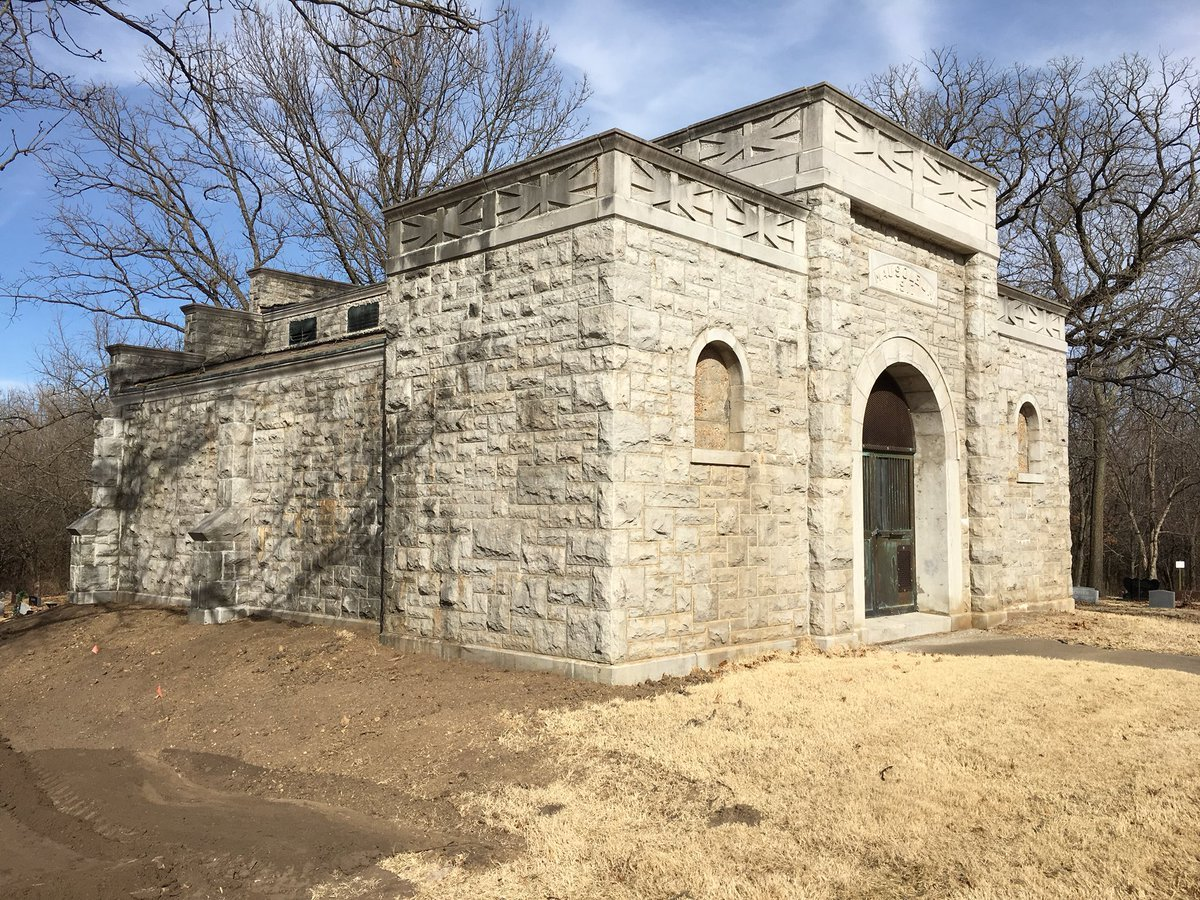Recently, the cemetery was placed on the National Register of Historic Places, but for the mausoleum to meet the requirements for that distinction could costnearly a$100,000 in repairs. (Nathan Vickers/KCTV5 News)
