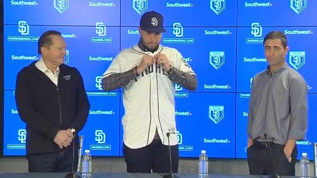 Eric Hosmer has joined the San Diego Padres, and will wear a jersey number to honor late Kansas City teammate Yordano Ventura. (MLB Network)
