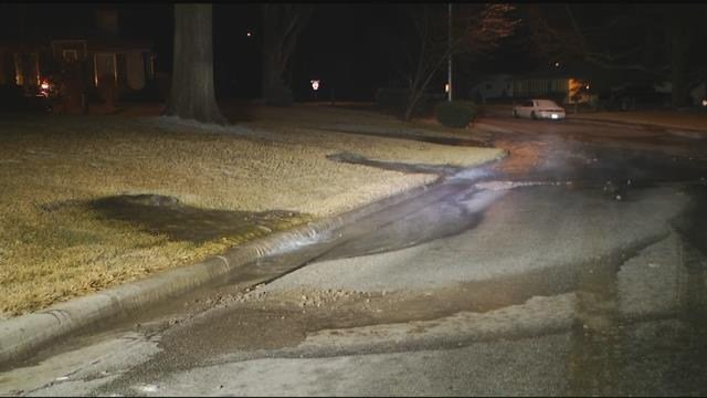 The break happened before 5:30 a.m. in the area of Homestead Drive and Roe Avenue. (KCTV5)