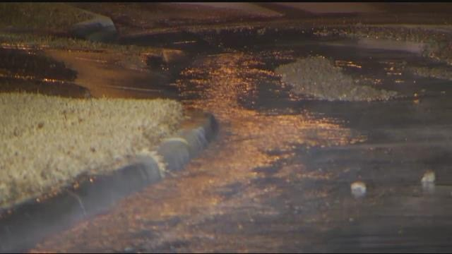 Officials say an eight-inch main broke and that five to ten homes will be without water for at least four hours. (KCTV5)