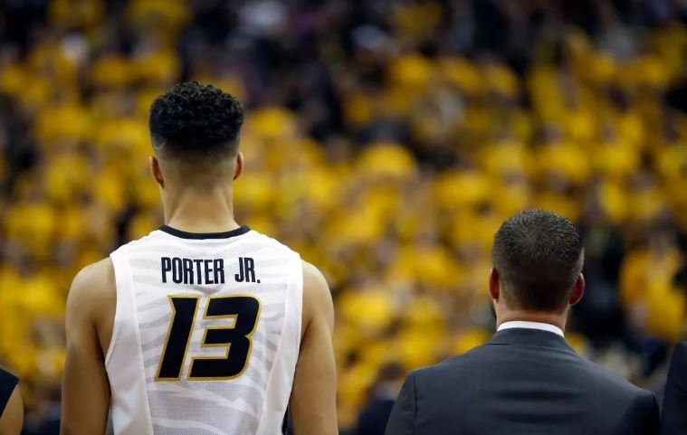 Missouri's Michael Porter Jr. says he is declaring for the NBA draft. (AP)