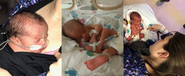The boys, named Ron, Elkanah, and Abishai, were born minutes apart on Thursday. (Submitted to KCTV5)