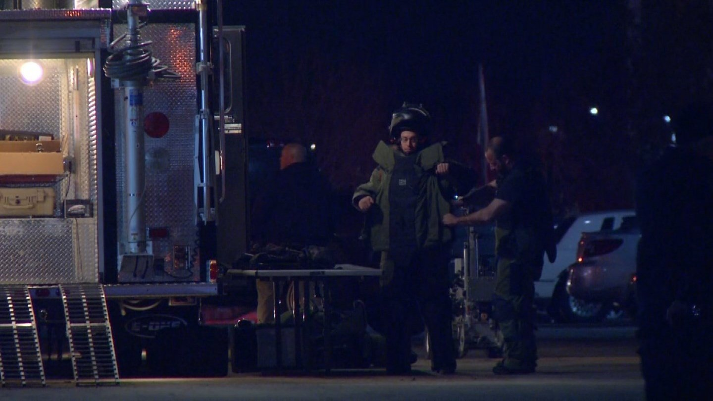 Independence police say a suspicious package found at an apartment complex was an improvised explosive device. (KCTV5)