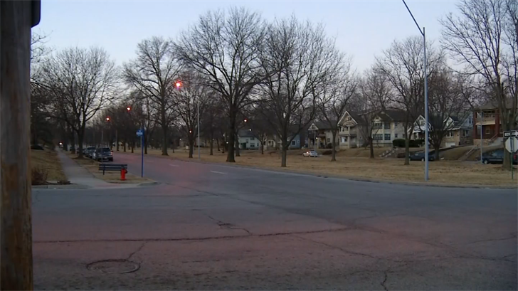 The view from one side of 51st and Paseo. (KCTV)