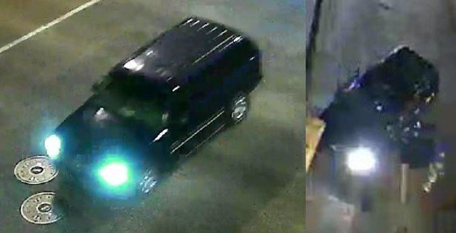 Police are searching for a dark-colored SUV in connection to the shooting. (KCPD)