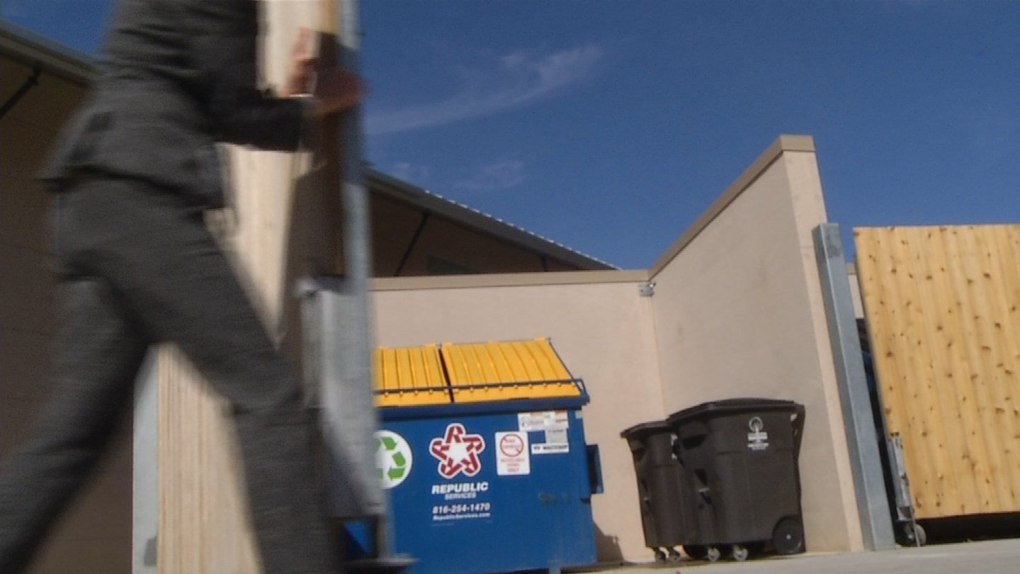 The Shawnee Mission School District has decided to lock up their recycling bins. (KCTV5)