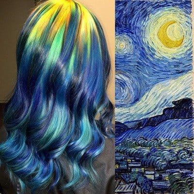 You've probably seen people with some crazy colored hair, but one small-town Kansas hairstylist is taking it to another level. (Ursula Goff)