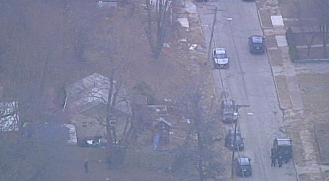 Officers are searching the area of 27th Street and Van Brunt Boulevard. (KCTV5)