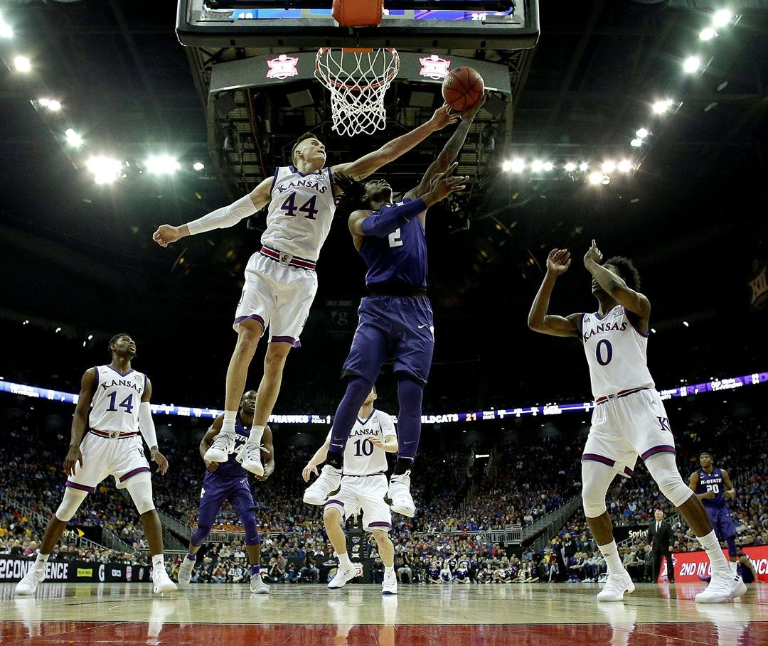 It was the Jayhawks' eighth straight win over Kansas State, and they remained perfect in 10 games against their cross-state rival in the Big 12 Tournament. (AP)