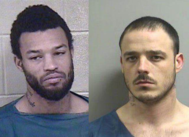 Shawn Brown, 27, right and Dane A. Hill, 26, have been charged for attempting to shoot at a law enforcement officer in Kansas City. (File photo)