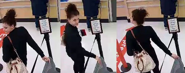 The Olathe Police Department is seeking help identifying a woman using a stolen credit cardto purchase merchandise from an Overland Park store. (Olathe PD)