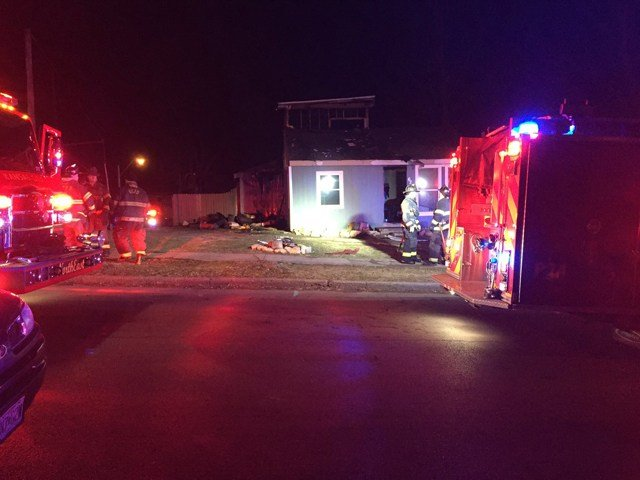 The fire started before 4 a.m. at a home near Ninth Street and Belmont Avenue. (KCTV5)