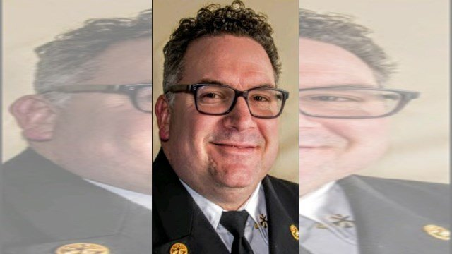 City Manager Troy Shulte named Gary Reese, a 23-year KCFD veteran, as the city's new fire chief during an event celebrating KCFD's 150th anniversary. (KCFD)