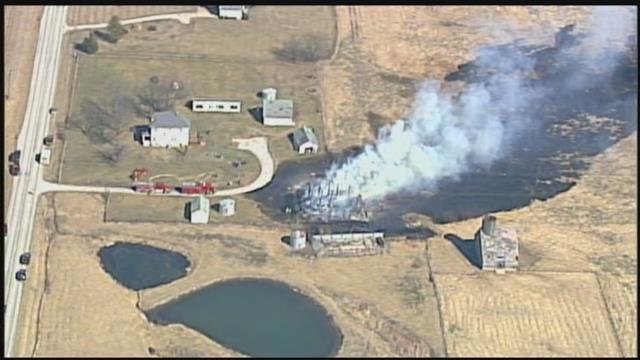 Firefighters said there were no injuries at the scene near 202nd Street and Metcalf Avenue. (Chopper5)