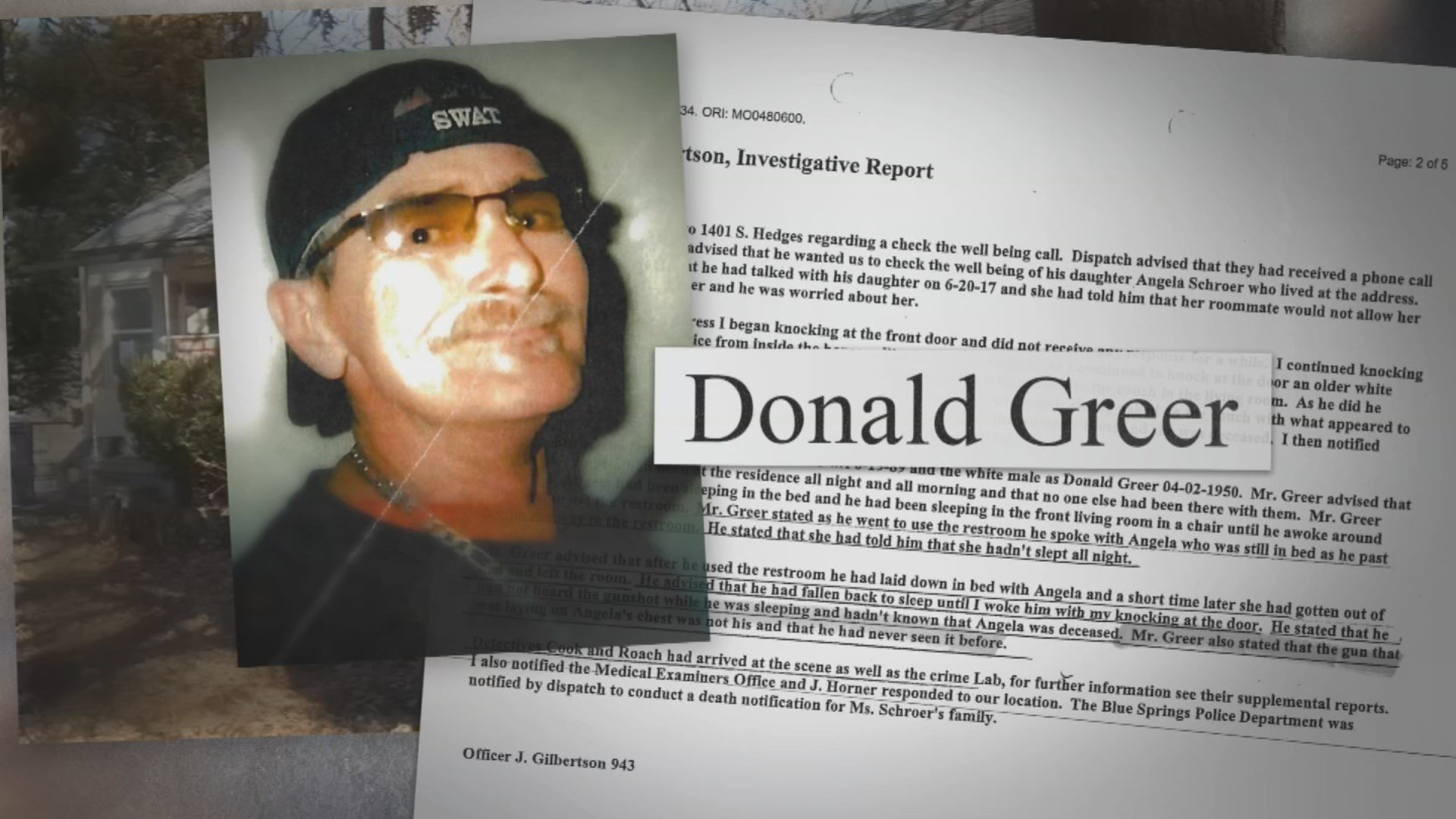 Angela Schroer lived with Donald Greer and even he says he was the only one home the night of her death. (KCTV5)
