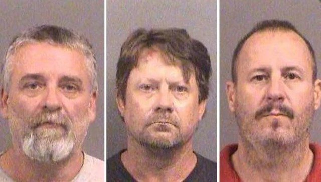 Patrick Stein, Gavin Wright and Curtis Allen were convicted on Wednesday of one count of conspiracy to use a weapon of mass destruction and one count of conspiracy against civil rights. (CNN)
