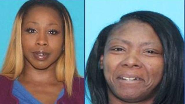 Tyjuana Watson (Jackson), left, and Lacresha Carr. (KCKPD)