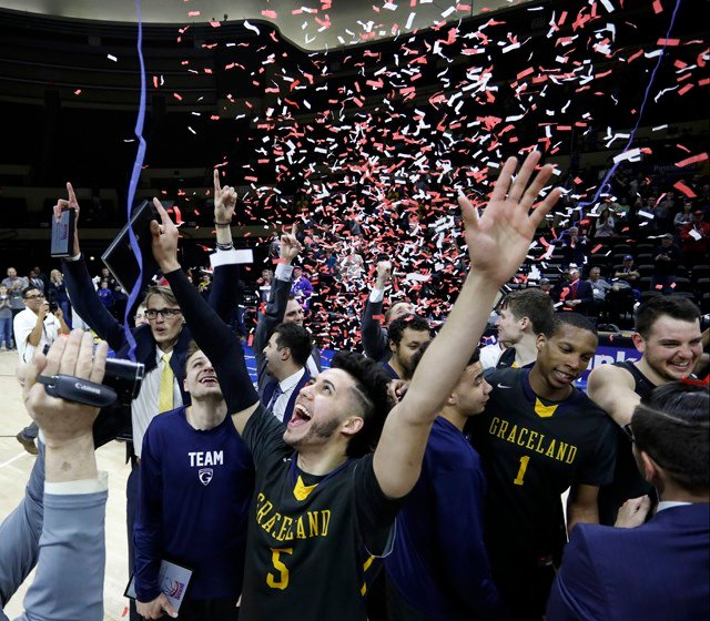Graceland (29-10) won its 11th straight game, competing in its first NAIA Tournament. (AP)