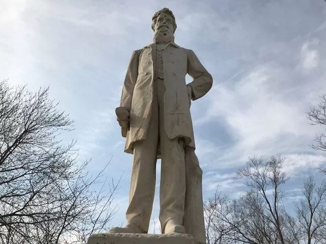 The statue, built in 1911, is the oldest statue of Brown in existence. (KCTV5)