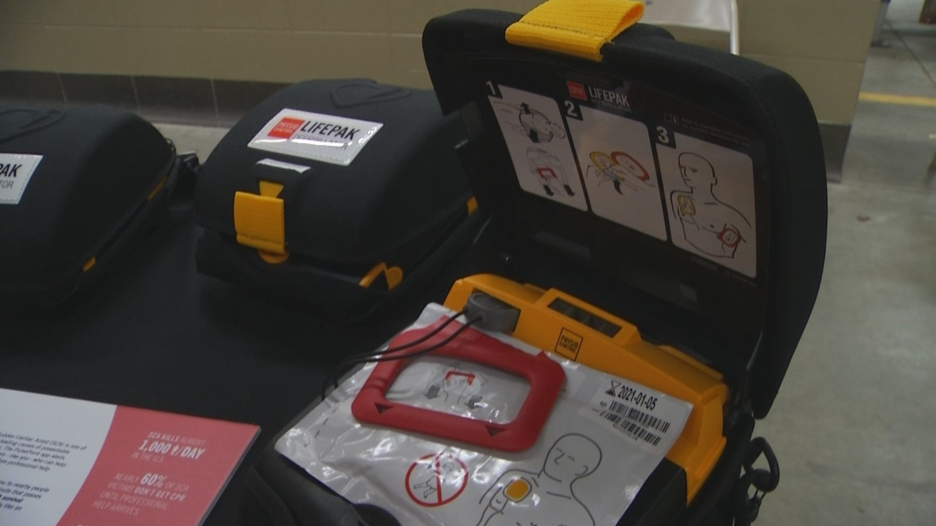 The Olathe Fire Department is one of the first departments in the country to provide AEDs to off-duty firefighters to help save lives.(KCTV5)