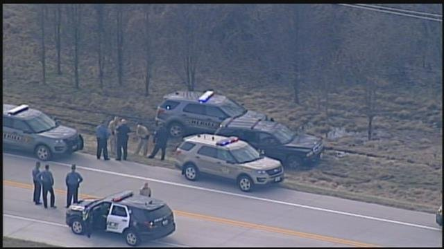 A police chase Thursday morning ended in Lee's Summit with a suspect in custody. (Chopper5)