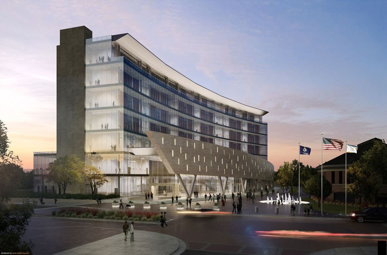 A schematic rendering of the new courthouse. (Johnson County Government)