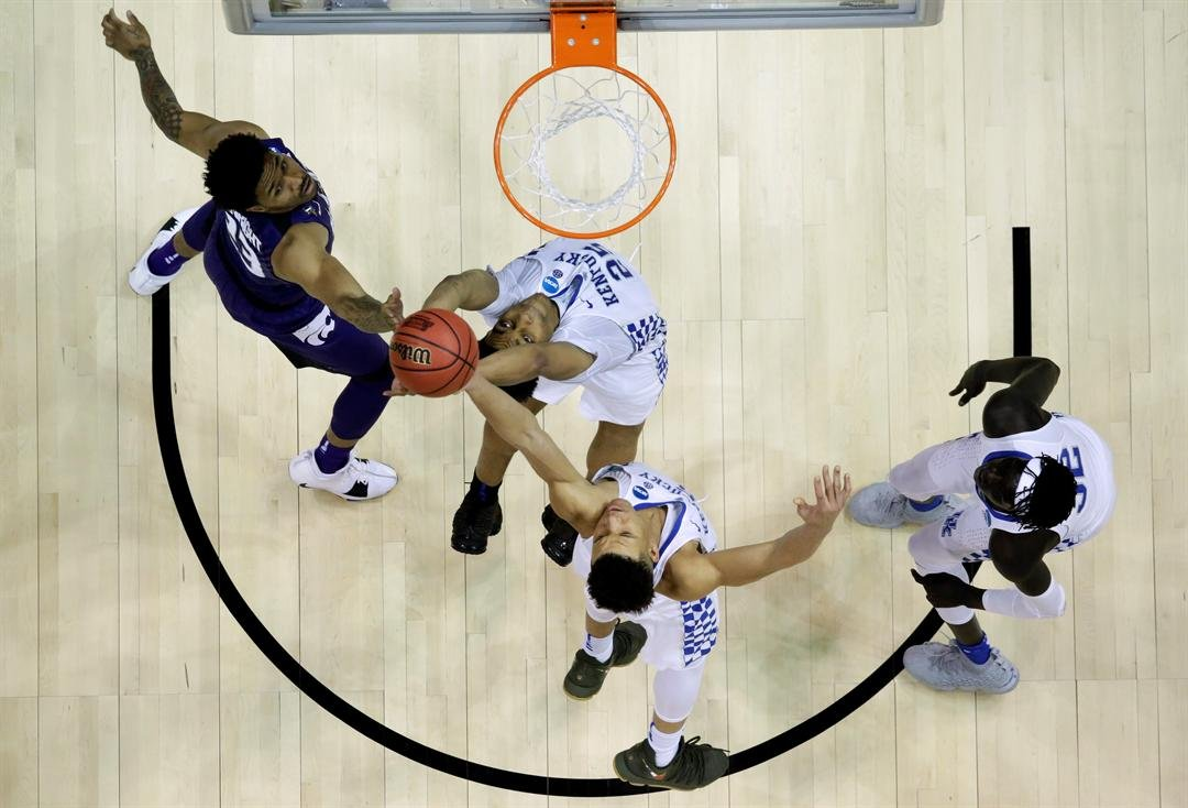 Kansas State is winning with defense and held Kentucky to a season low for points in Thursday night's 61-58 win. (AP)