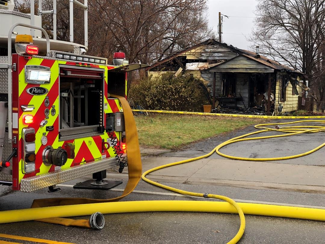 Firefighters discovered a body Monday morning after responding to a building fire in Lawrence.  Crews were called to the 900 block of East 19th Street. (Brett Hacker/KCTV5 News)