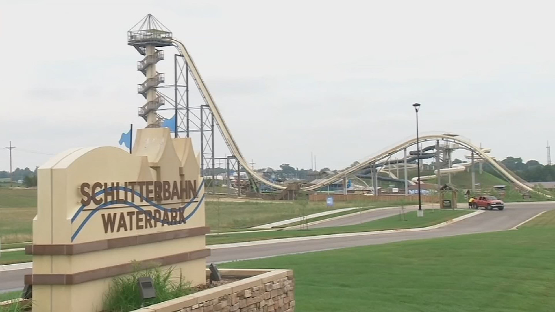 A water park company co-owner accused of rushing the world's tallest waterslide into service and a designer accused of shoddy planning were charged in the decapitation of a 10-year-old boy on the ride in 2016. (KCTV5)