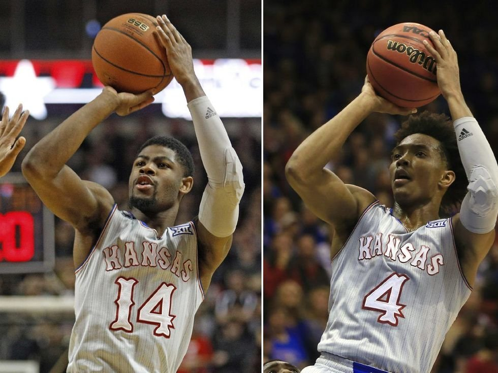 FILE - Bill Self spent the past few months getting on Malik Newman for failing to take the pressure off Devonte Graham. Now, the transfer from Mississippi State is the Batman to Graham's Robin, giving the Jayhawks a potent one-two punch. (AP)