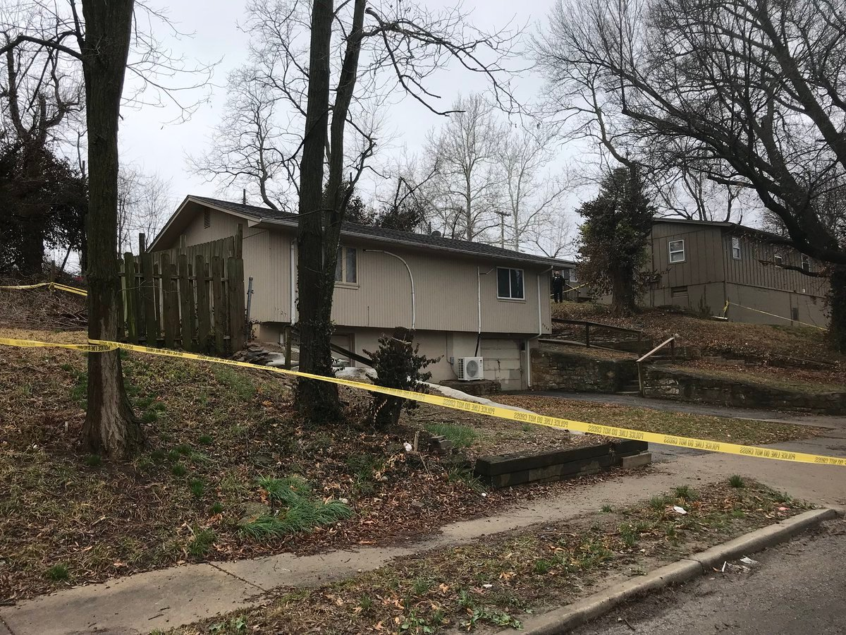Police were called about 10:30 a.m. Tuesday to 11th Street and Tenny Avenue. Investigators are not saying how the three people died. (Caroline Sweeney/KCTV5 News)
