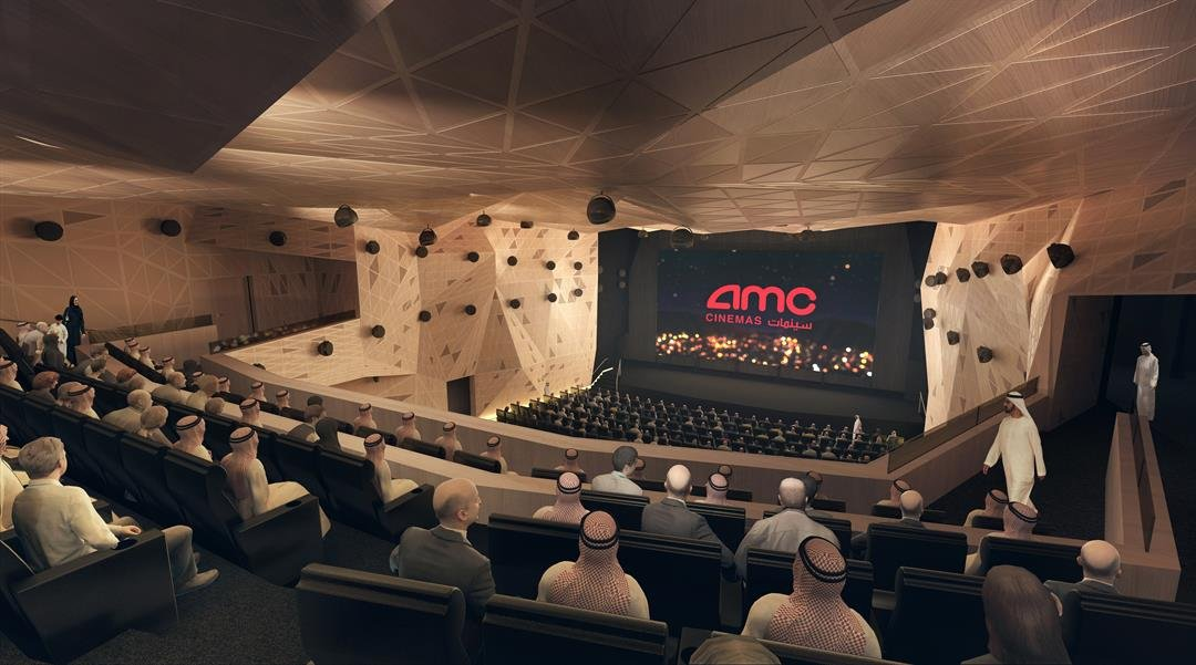 Saudi Arabia's first movie theater in decades will open April 18, as the Gulf kingdom readies for a rush of cinema operators eager to turn the Middle Eastern country into anationof moviegoers. (Rendering courtesy: AMC)