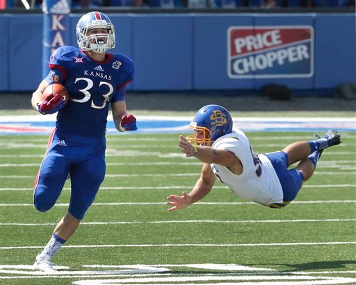 A little over a year ago, Kansas Jayhawks wide receiverRyan Schadler wasn't sure he would ever get back on the field.(AP File Photo)